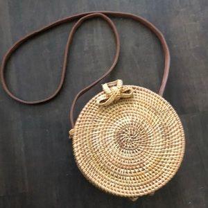 Handbags - Circle Straw Bag